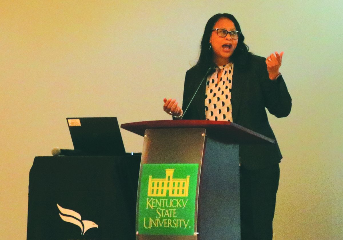 """Michelle Singletary, a financial columnist for The Washington Post and author of """"The Color of Money,"""" spoke  on campus Sept. 24 at a luncheon sponsored by the Federal Reserve."""